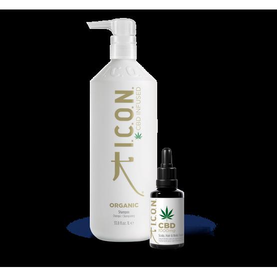 organic shampoo Litro + aceite CBD